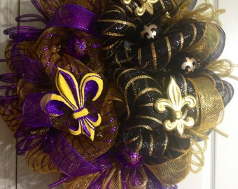 Saints/LSU wreath