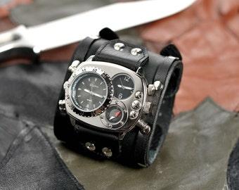 Techno-industrial men's wrist watch 'Maximus'