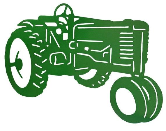 Old Tractor Clip Art : John deere tractor decor metal art boy s nursery room