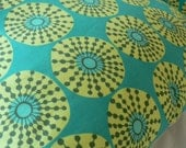 Geometric Floral Bright Bold Yellow Green Throw Cushion Cover - Large