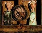 "Art Sculpture shadowbox ""The Marriage"""