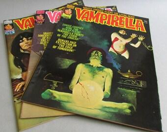 Vintage Vampirella Graphic Novel, Choice of Issue No. 51, No. 52, or No. 53, Warren Magazine 1976