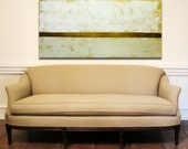 """ORIGINAL Textured Acrylic and Oil Painting with Gold Leaf Over-the-Couch Abstract Art Modern Contemporary Ready to Hang 24"""" x 56"""