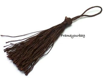 10 pieces- Fabric fringe Brown