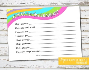 INSTANT DOWNLOAD - Oh The Places Youll Go - Graduation Advice Cards