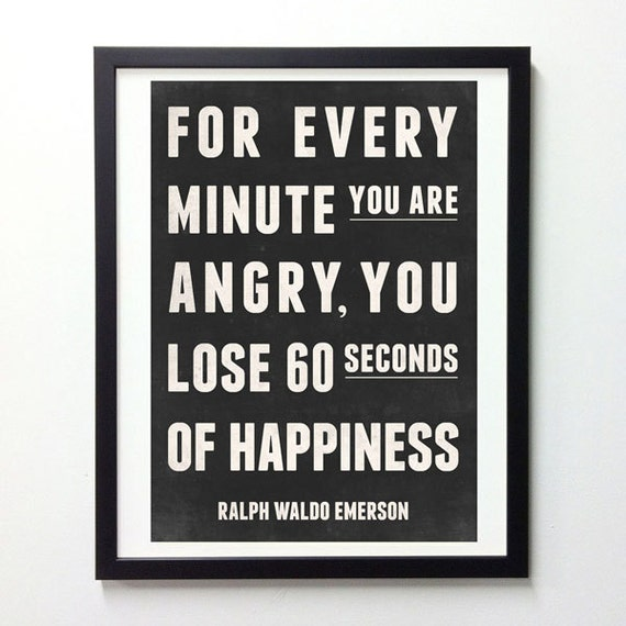 Happiness quote, Motivational quote, Typography print, Quote print, Positive quote, Typography poster, Giclee print, Black and White print