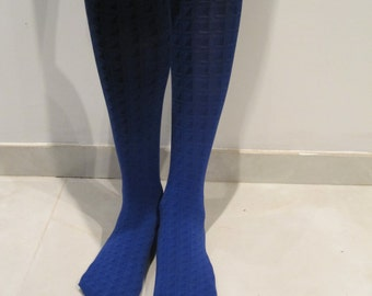 Fashion tights hand dyed,nautical blue end black.
