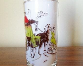 "Vintage Gay Nineties  12oz. Bar Glass Barware   ""The Hansom""  Mid Century Modern"
