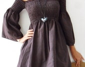 Sexy....Lady Drak Brown cotton shirt/Party/Summer