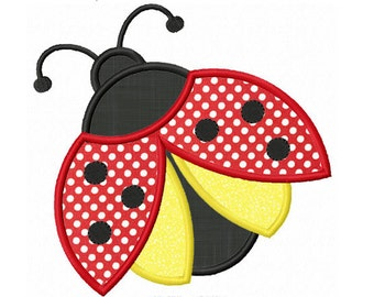 Instant Download Ladybug  Applique Machine Embroidery Design NO:1296