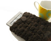 Crochet Kindle Case, Black & Gold Kindle Cover