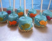 Fish Marshmallow Pops Under the Sea Gold Fish Marshmallow Pop Pool Beach Birthday Wedding Favors 1 dozen