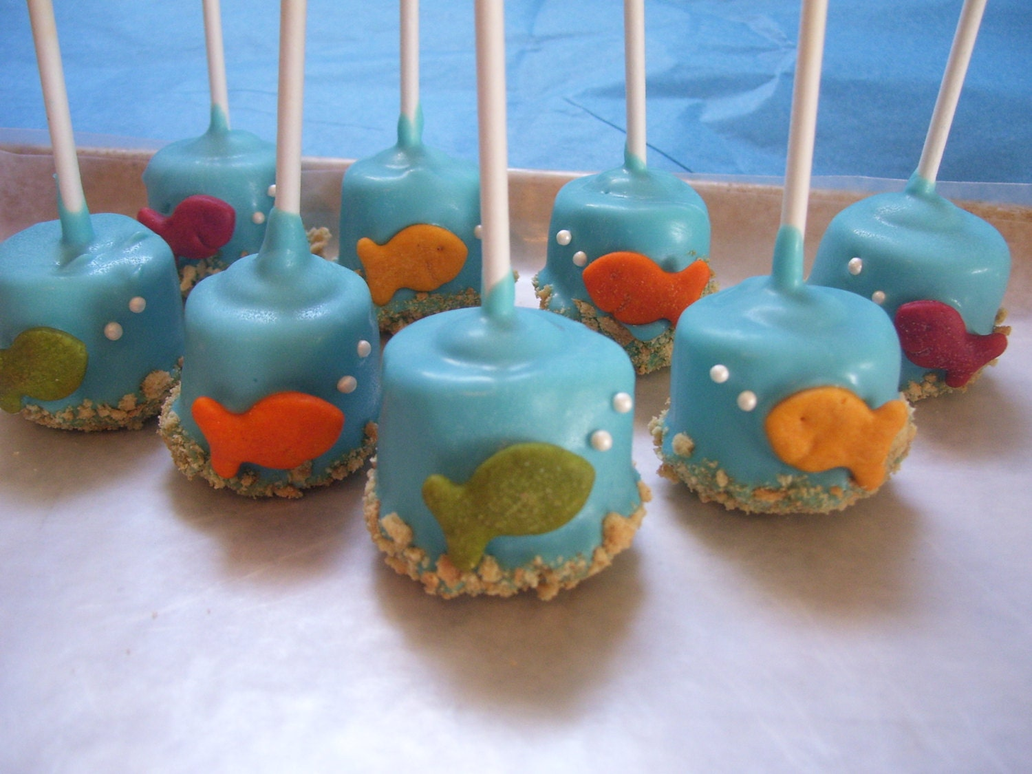 Fish Marshmallow Pops Under the Sea Gold Fish by MarieGrahams