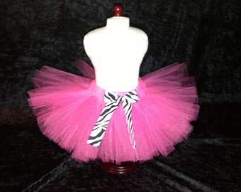 American Girl Doll Tutu Shocking Pink and Zebra Tutu