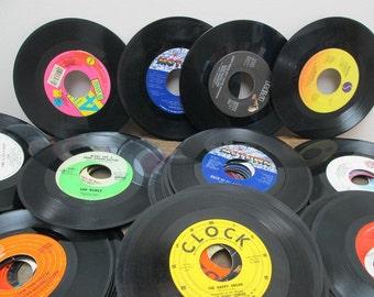 Vintage Vinyl 45 Records, 30 Records, Table Decor, Music Wedding, Retro Wedding, Music Themed Wedding, Vinyl Record Decorations