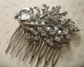 Fairy tale clear sparkle white rhinestones crystals wedding bridal bridesmaids hair comb