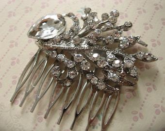 Romantic rhinestones crystals wedding bridal bridesmaids hair comb, engaged, bridesmaids comb, wedding accessory, wedding comb, bridal comb