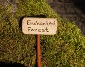 Enchanted Forest, Fairy Garden Sign