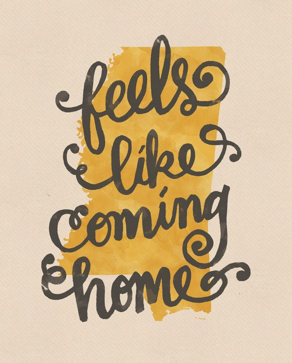 Feels Like Coming Home Mississippi Print By Penmeetpaper