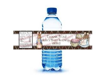 Peter Rabbit Water Bottle Labels
