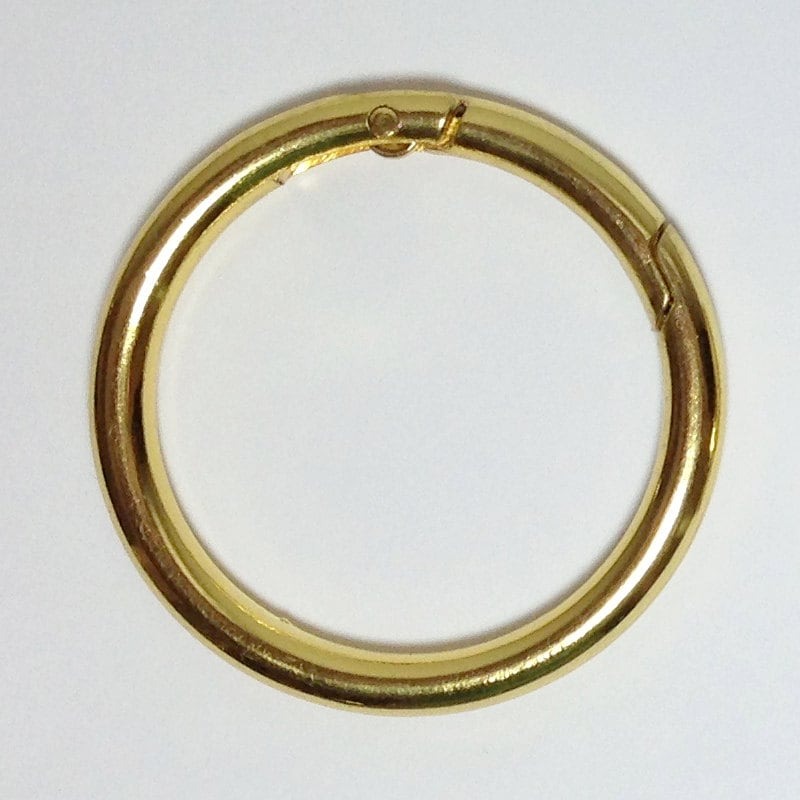 2 gold plated gate o ring 1 1 2 inch push snap