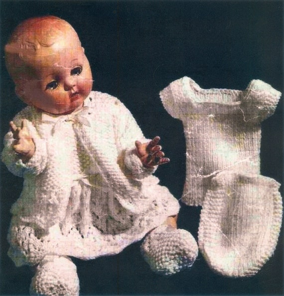 Vintage Dolls Knitting Patterns : PDF Vintage Knitting Patterns for Dolls 14 and