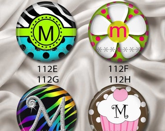 """Initial, Letter """"M"""" - Young & Fun, Interchangeable Magnetic Design Inserts - FIT Clique and Magnabilities 1"""" Jewelry Bases...112"""