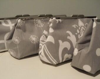 Grey Bridesmaid Clutches