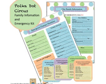 Emergency Contacts - Babysitter Checklist - Baby Sitter Information - Allergy ID - Identification Cards