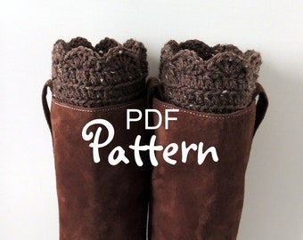 PDF CROCHET PATTERN for FANtastic Boot Cuffs, Crochet Boot Cuffs, Crochet Boot Toppers, Fan Edge Design, Digital Download, Lots of Photos