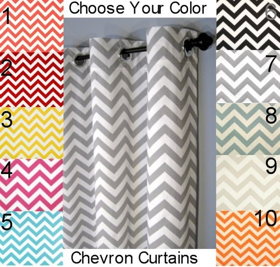 Curtains Ideas curtain panels 72 length : Chevron Grommet Curtains FREE SHIPPING Choose Your Length