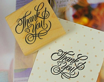 Wooden Rubber Stamp - Rubber Stamp - Diary Stamp - Blessing Stamp - Thank You 02