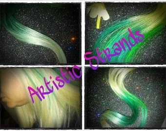26 to 28 Inch Long Hair Extensions / 150 Utips or Itips /  Pick you base color / Pick your Ombre Color