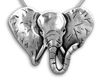 SS Elephant Pin Pendant