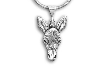 Sterling Silver Donkey Pendant