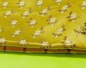 Gold Asian Cheongsam Fabric 27 x 20 Inches