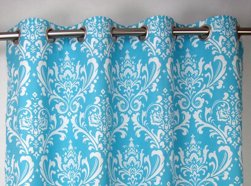 girly light sky blue white osborne damask curtains by zeldabelle. Black Bedroom Furniture Sets. Home Design Ideas