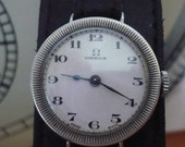 RESERVED - Beautiful vintage Swiss Omega 23,7 ST2 silver cased hand winding wristwatch - 1931