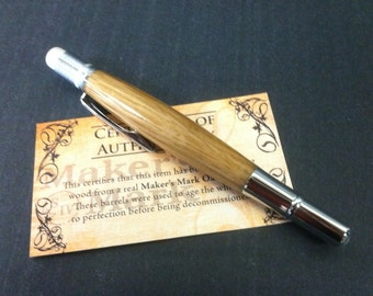 Makers Mark Bourbon Oak Golf Pencil  -- made from a real Bourbon Barrel of Makers Mark