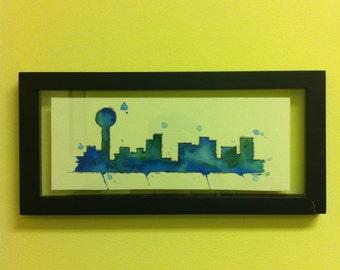 Knoxville, TN Skyline Blue & Green (original)