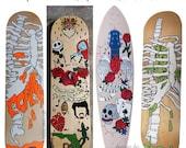 Custom Skateboard Deck. Skate Deck Art. Hand Painted Skateboard Deck. Hand Painted Skateboard. Custom art. Gift For Boys. Gift for Skater