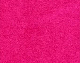 Fuschia Classic Solid  Fleece Fabric