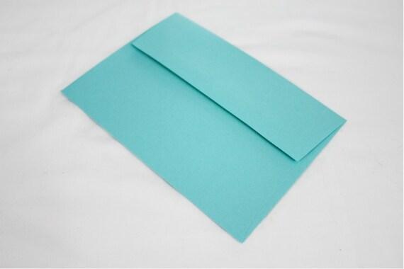 10 Aqua Blue 4x6 Invitation Envelopes set of 10 size A6