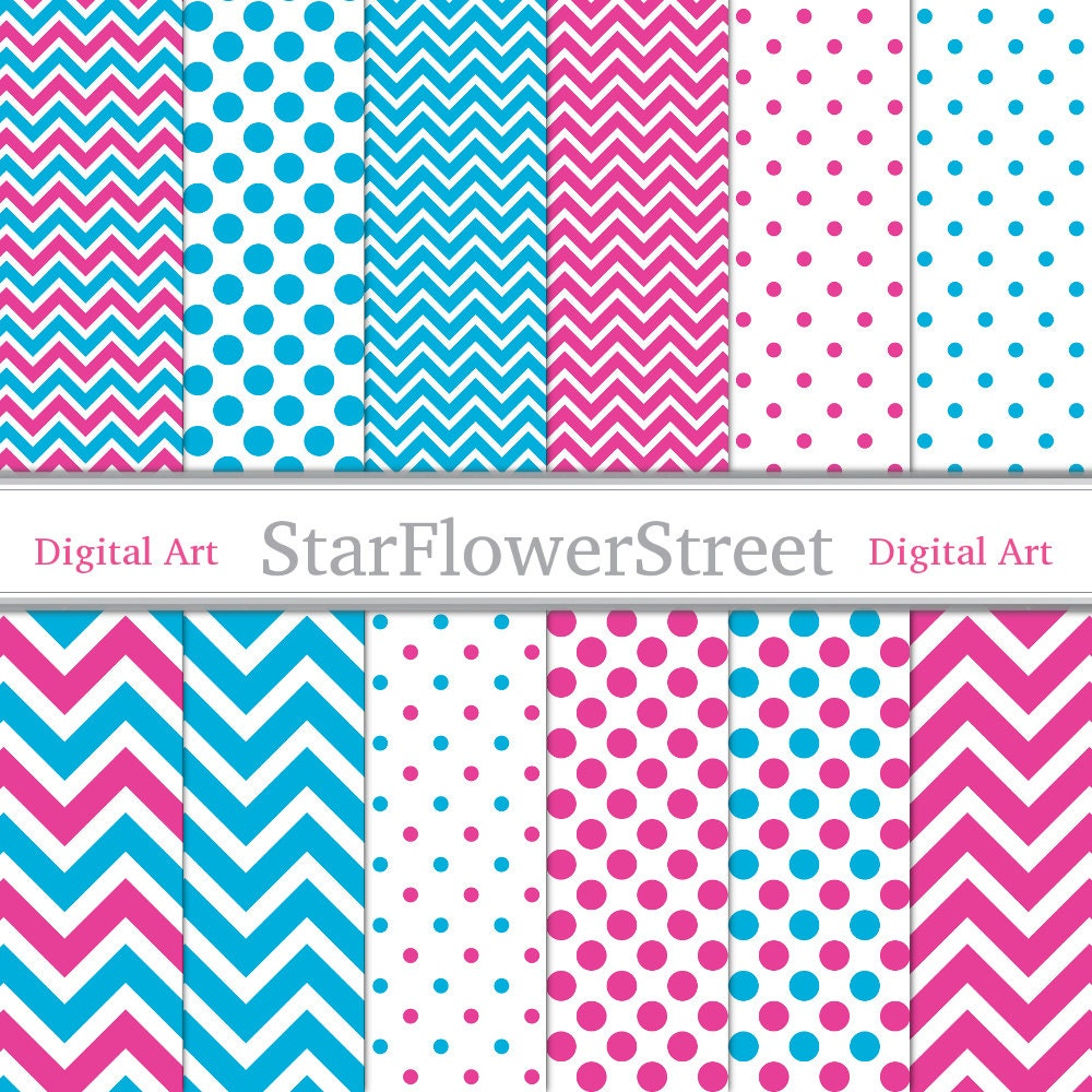 Pink And Blue Chevron Wallpaper C