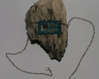 Computer Chip Necklace