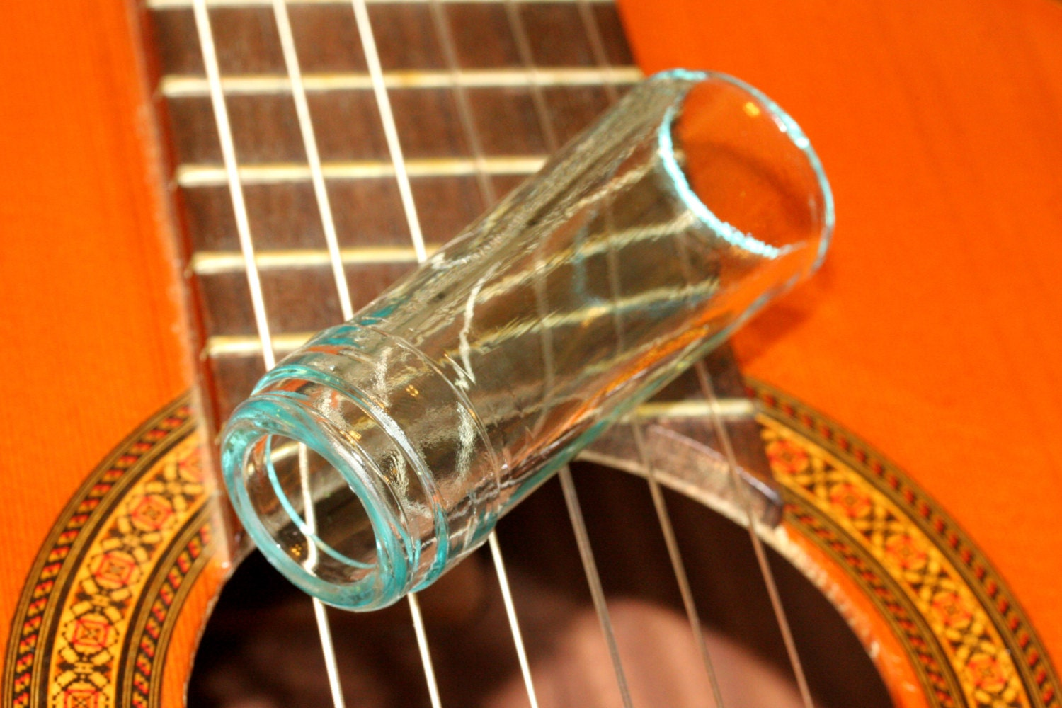 glass wine bottle neck guitar slide by guitarpickcollection. Black Bedroom Furniture Sets. Home Design Ideas