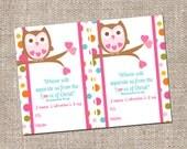 Owl Scripture Valentine's Day Kids Classroom Card - Instant Download - Printable DIY - Girl