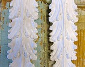 Shabby Chic Architectural FURNITURE APPLIQUES Leaves (set of 2) Over 500 new designs