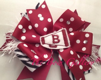 Custom Spirit Hair Bows.  You choose school colors