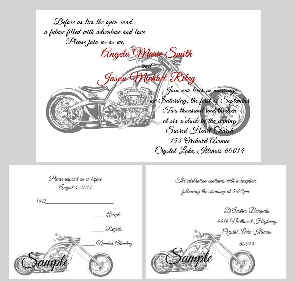 100 Personalized Custom Harley Davidson Motorcycle Wedding